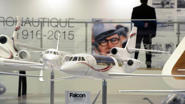 Подготовка к открытию международной выставки Paris Air Show Le Bourget 2015 - Sputnik France
