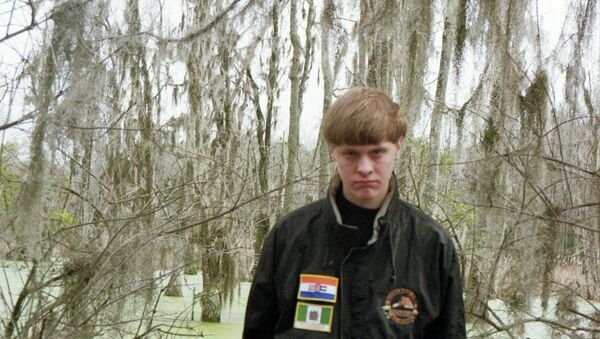 Dylann Roof is pictured in this undated photo taken from his Facebook account. Roof is suspected of fatally shooting nine people at a historically black South Carolina church in Charleston on June 18, 2015 - Sputnik France