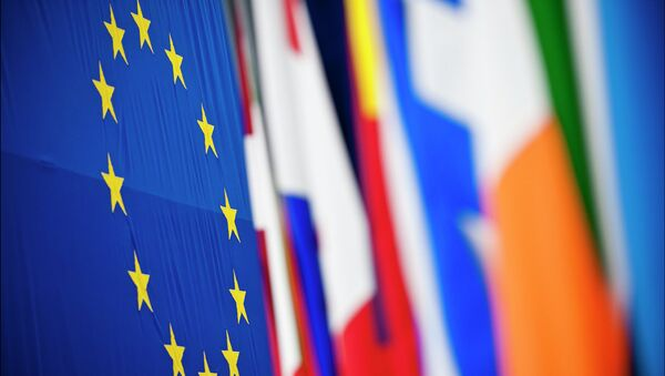 A multitude of colourful flags at the European Parliament in Strasbourg - Sputnik France