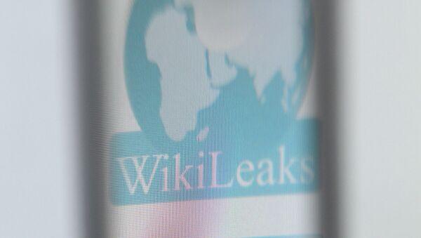 The logo of the website specialised in publishing secret documents WikiLeaks - Sputnik France