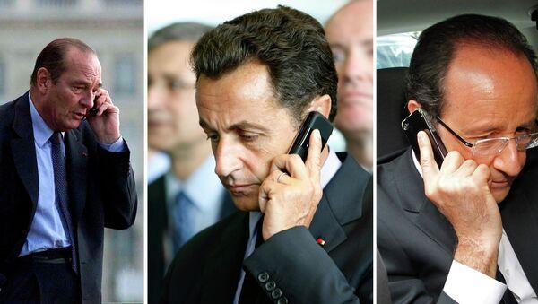 Jacques Chirac, Nicolas Sarkozy et François Hollande - Sputnik France