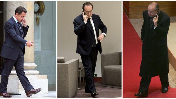 Combinación de fotos de Nicolas Sarkozy, Francois Hollande y Jacques Chirac - Sputnik France