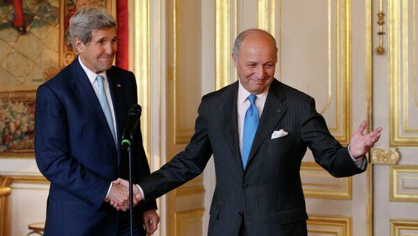 Laurent Fabius et John Kerry - Sputnik France