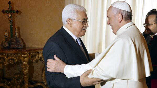 Le pape et Mahmoud Abbas - Sputnik France