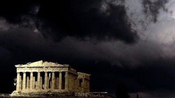 Le temple du Parthénon au sommet de l'ancienne Acropole à Athènes. - Sputnik France