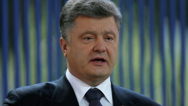 Ukraine's President Petro Poroshenko speaks during news conference in Kiev, Ukraine, Friday, June 5, 2015 - Sputnik France