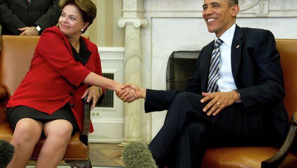 Barack Obama et  Dilma Rousseff - Sputnik France
