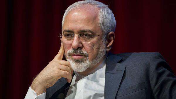 Iranian Foreign Minister Mohammad Javad Zarif speaks at the New York University (NYU) Center on International Cooperation in New York April 29, 2015 - Sputnik France
