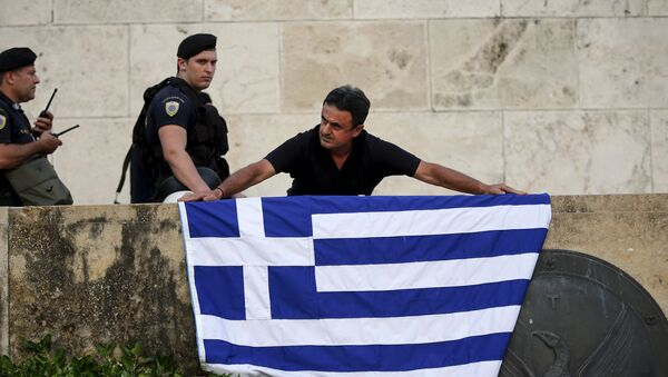 Le drapeau grec - Sputnik France