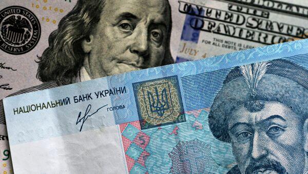 Les billets américain et ukrainien - Sputnik France