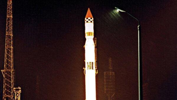Старт ракеты-носителя Циклон-3 на космодроме Плесецк (из архива Института космических исследований РФ) - Sputnik France