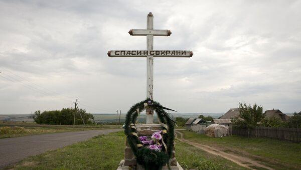 Downed Malaysia Airlines flight MH17, near the village of Hrabove (Grabovo) in Donetsk region, eastern Ukraine, July 14, 2015 - Sputnik France