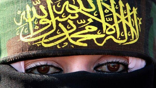 A woman supporting Islamic Jihad - Sputnik France