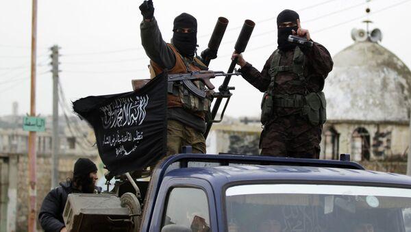 Des combattants du groupe terroriste Etat islamique, Syrie, 2014 - Sputnik France