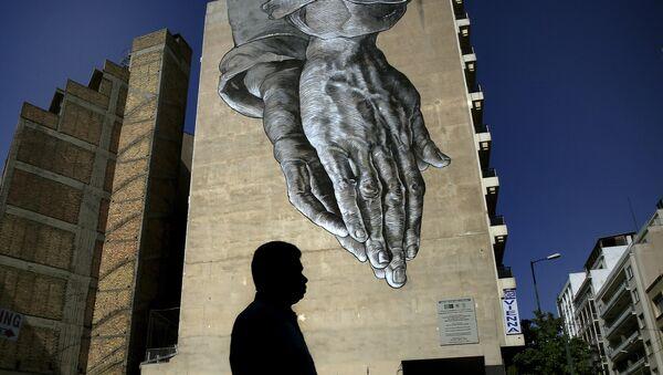 Athènes. La crise grecque vue par les artistes de rue - Sputnik France