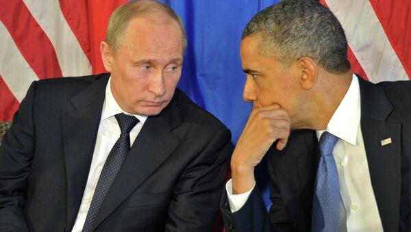 Les présidents russe et américain Vladimir Poutine et Barack Obama - Sputnik France