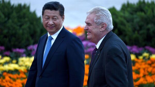 Xi Jinping et Miloš Zeman. Archive photo - Sputnik France