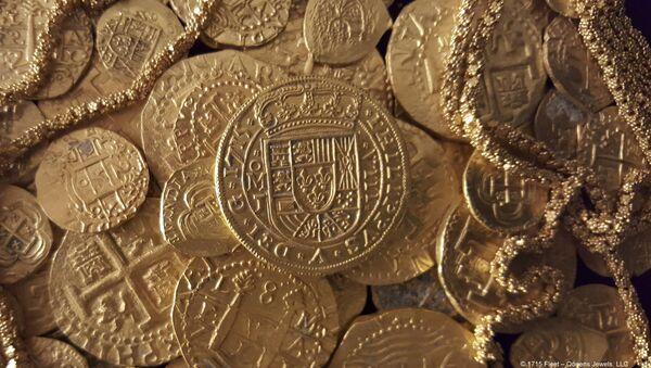 Des pièces d'or espagnoles trouvées près des côtes de la Floride - Sputnik France