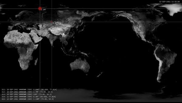 Une carte animée des explosions nucléaires - Sputnik France