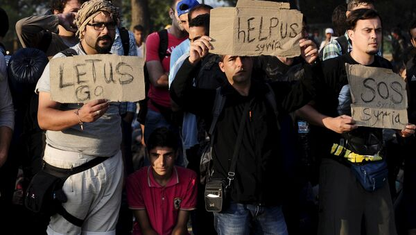 Macedonia migrants - Sputnik France