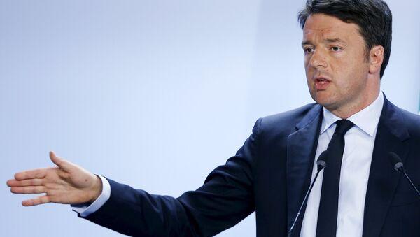 Le président du Conseil italien Matteo Renzi - Sputnik France