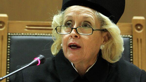 La présidente de la Cour suprême Vassiliki Thanou - Sputnik France