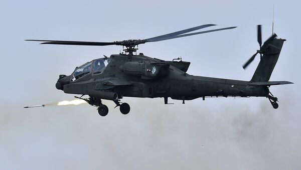 Un hélicoptère américain AH-64 Apache - Sputnik France