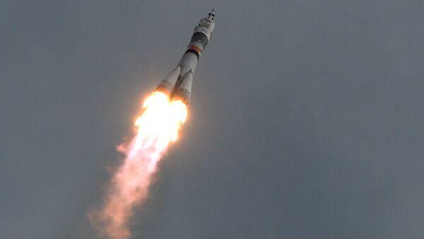 Un vaisseau spatial russe Soyouz TMA-18M - Sputnik France