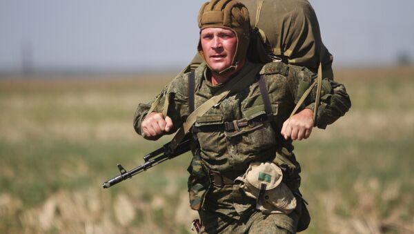 Les exercices militaires Fraternité slave avec la participation de la Russie, de la Biélorussie et de la Serbie, septembre 2015 - Sputnik France