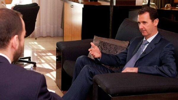 Bachar el-Assad, président de la Syrie, lors d'une interview au magazine Foreign Affairs - Sputnik France