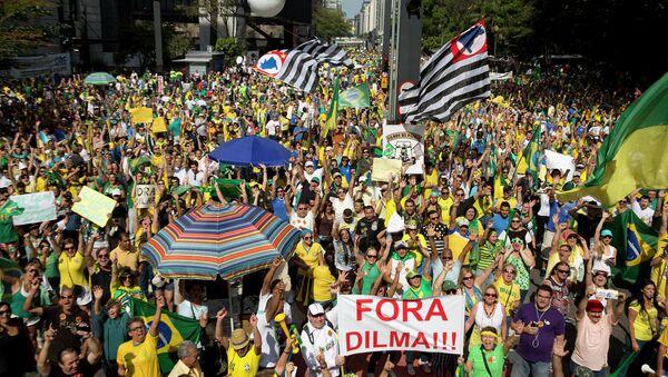 la manifestation au Brésil contre Dilma Rousseff - Sputnik France