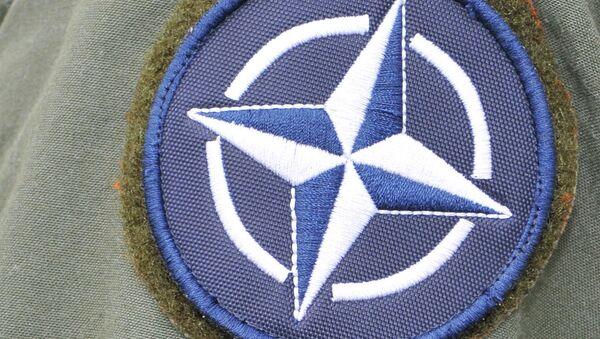 A NATO patch is fixed on a Turkish service member's flight suit - Sputnik France