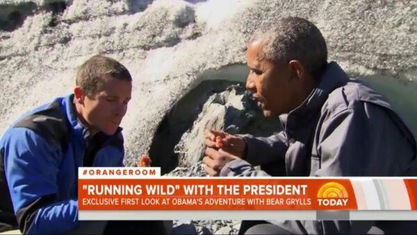 Obama mange les restes d'un saumon laissés par un ours - Sputnik France