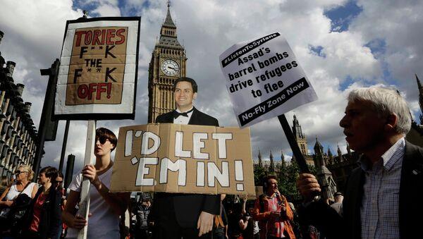 La Marche de solidarité avec les réfugiés à Londres - Sputnik France