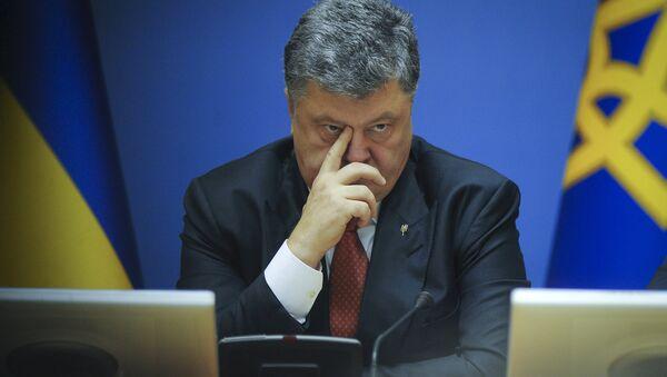 Ukrainian President Petro Poroshenko attends a cabinet meeting in Kiev, Ukraine, Septemver 8, 2015 - Sputnik France