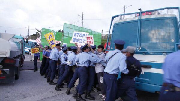 Protestations contre la présence des bases militaires américaines à Okinawa - Sputnik France
