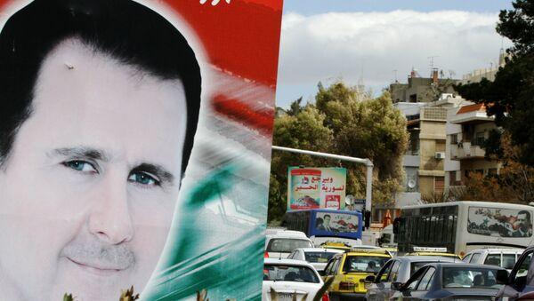 Portrait de président syrien Bashar al-Assad, Damas, Syrie - Sputnik France