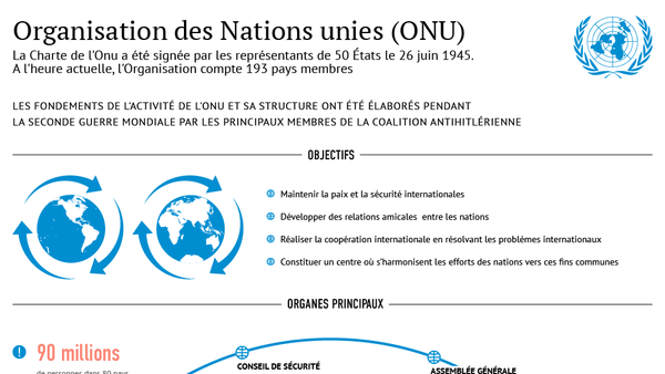 Nations unies : structure et histoire - Sputnik France