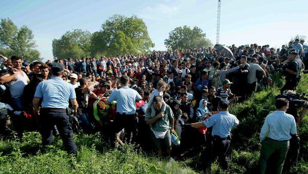 Des réfugiés affluent massivement en Croatie, le 17 septembre 2015 - Sputnik France