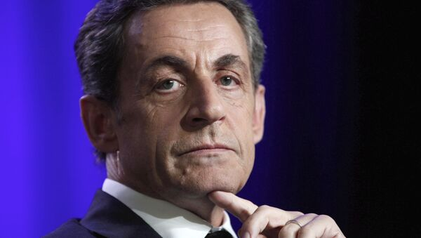 FILE - In this March 24, 2015, file photo, former French President and conservative party UMP leader Nicolas Sarkozy attends a meeting in Asnieres, outside Paris, France.  - Sputnik France