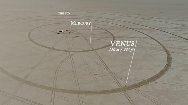 Modèle réduit du système solaire au fond d'un lac asséché - Sputnik France
