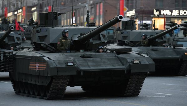Armata T-14 during Victory Day Parade rehearsal in Moscow - Sputnik France