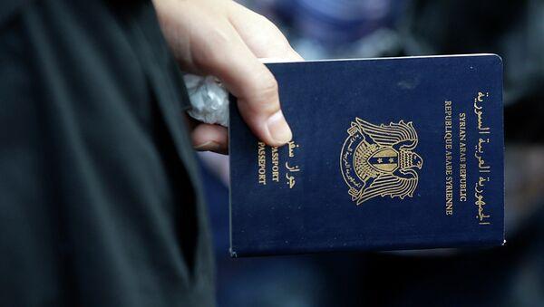Passeport syrien. Image d'illustration - Sputnik France