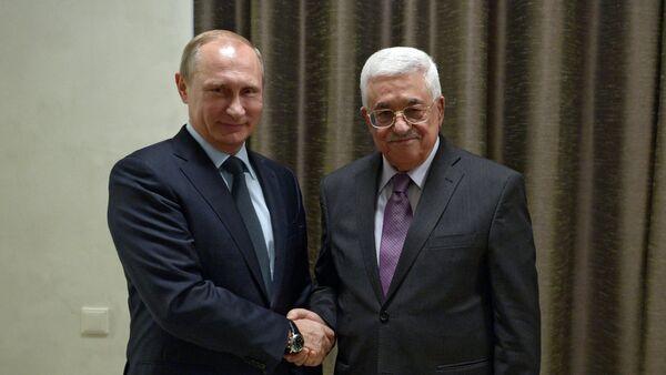 Vladimir Poutine et Mahmoud Abbas - Sputnik France