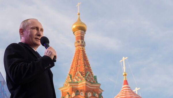 Президент России В.Путин посетил праздничный митинг-концерт Мы вместе! - Sputnik France