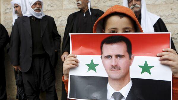 Le portait du président syrien Bachar al-Assad - Sputnik France