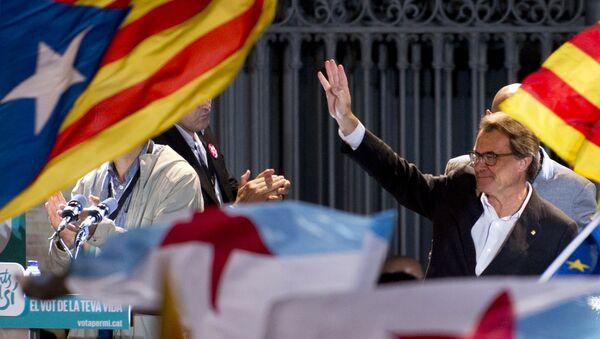 Le président de la Catalogne Artur Mas après les élections au parlement régional - Sputnik France
