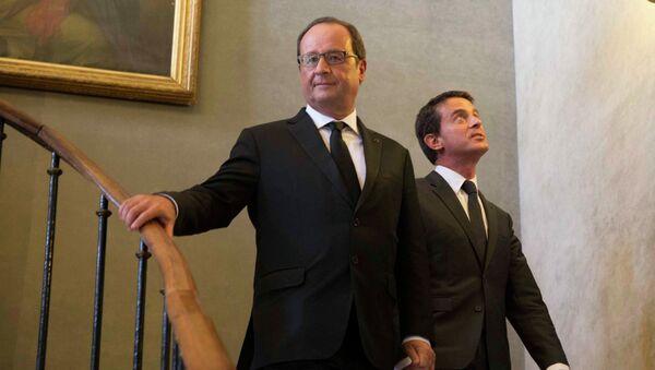 Francois Hollande et Manuel Valls. Archive photo - Sputnik France