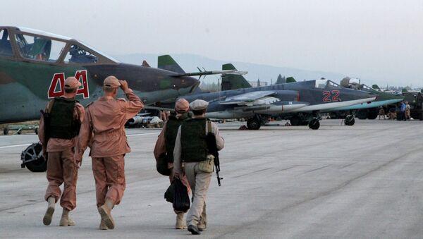 l'aviation d'attaque russe à l'aérodrome syrien de Hmamiyat - Sputnik France
