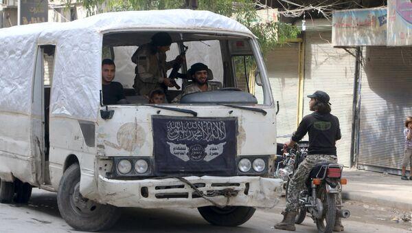 Rebelles fuient la Syrie face à l'avancée de l'armée, Alep, Syrie, Octobre 2, 2015 - Sputnik France